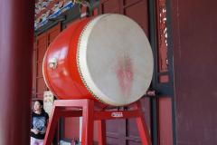 Grote trommel in tempel in Taipei