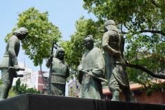 Beelden bij Chickan Towers in Tainan