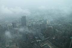 Beetje mistig uitzicht vanaf 101 toren
