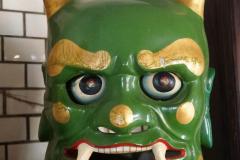 Groen monster in tempel in Yilan