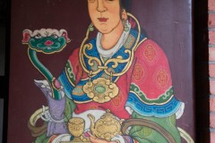 Schildering op deur in tempel in Yilan