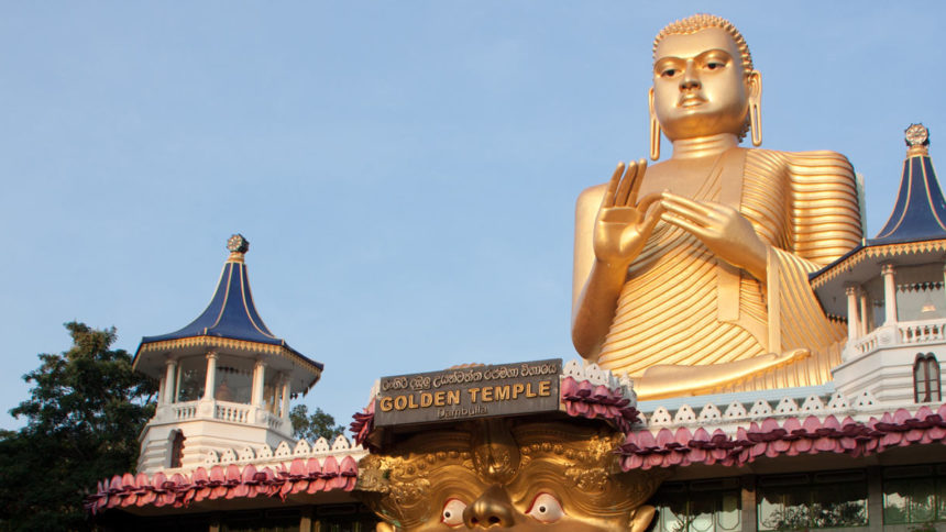 Golden Temple in Dambulla